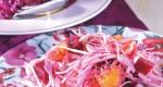 Insalata di barbabietola, arance e crauti