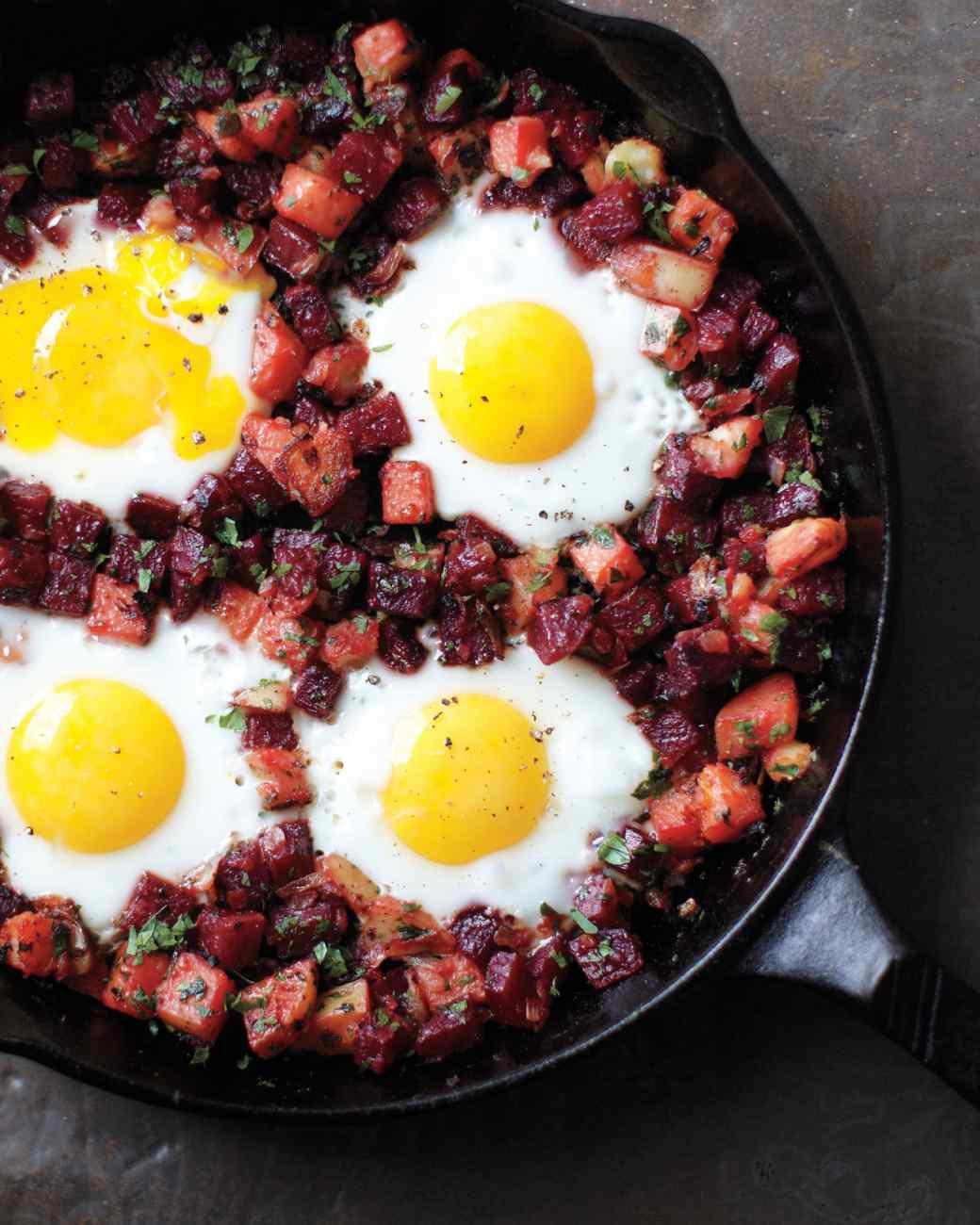uova, patate e barbabietole