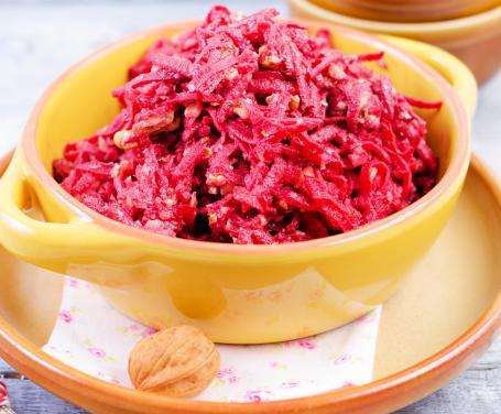 insalata di rape rosse e pere