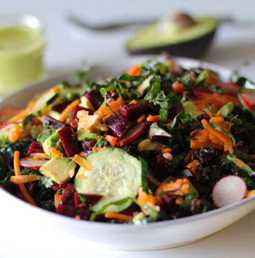insalata cavolo e barbabietole